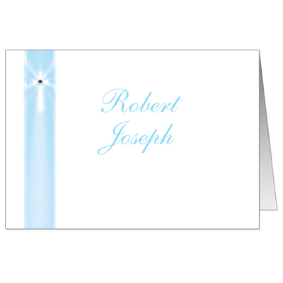 Blue Rays Jeweled Note Card