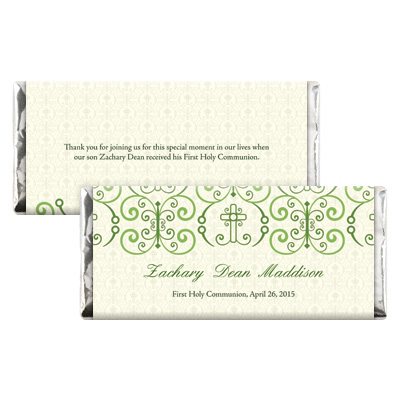 Adorned Cross First Communion Candy Wrapper