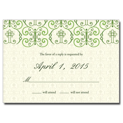 Adorned Cross Jeweled Response Card