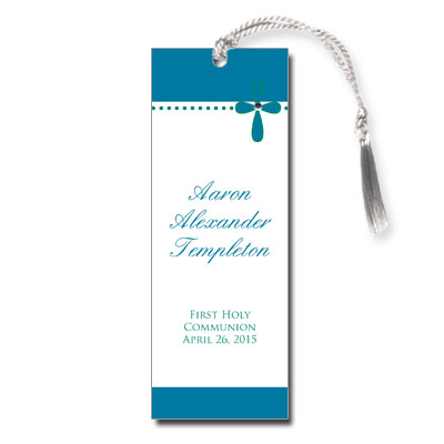 Bubble Cross Blue Jeweled Bookmark