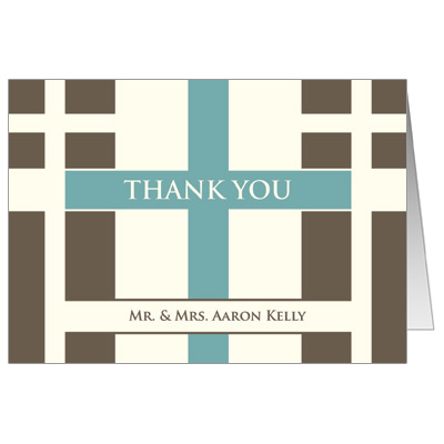 Contempo Crosses First Communion Thank You Card