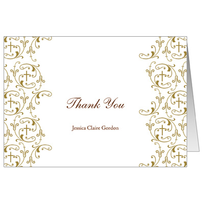 Golden Vines Note Card