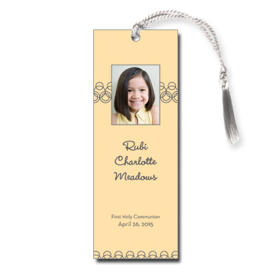Golden Hoops First Communion Bookmark