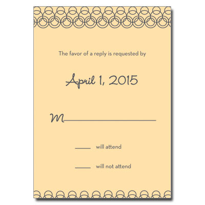 Golden Hoops First Communion Response Card
