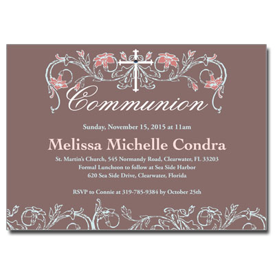 Dusty Rose Jeweled Invitation