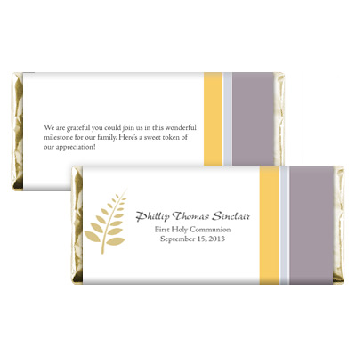 Olive Branch First Communion Candy Wrapper