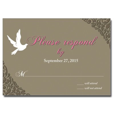 White Dove Response Card