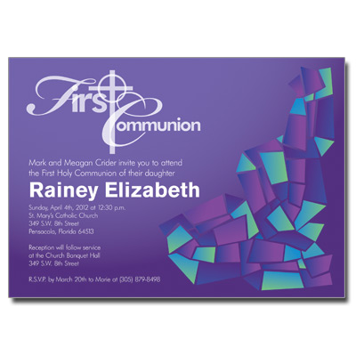 Abstract Glass Purple Invitation