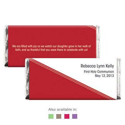 Angled Colors First Communion Candy Wrapper