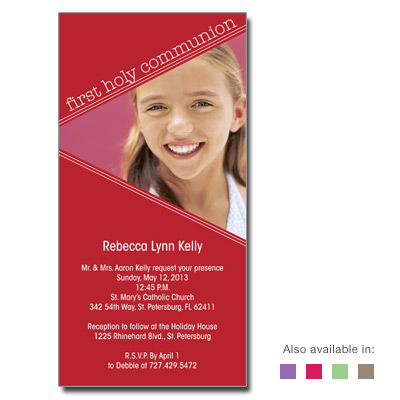 Angled Colors Invitation
