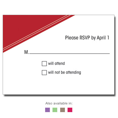 Angled Colors Response Card
