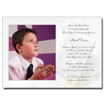Holy Bible First Communion Invitation