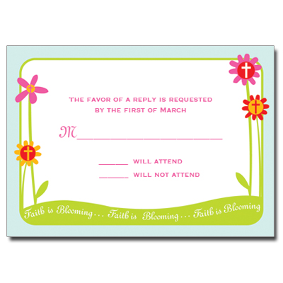 Faith Is Blooming Response Card