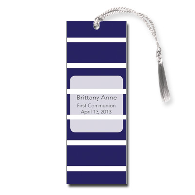 Bold Stripes Blue Bookmark