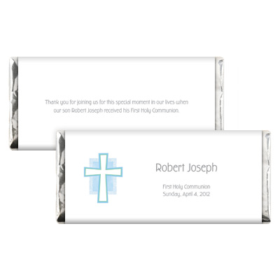 Blue Cross Jewel First Communion Candy Wrapper
