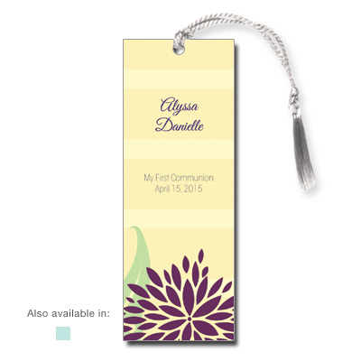 Dahlia Flowers Bookmark