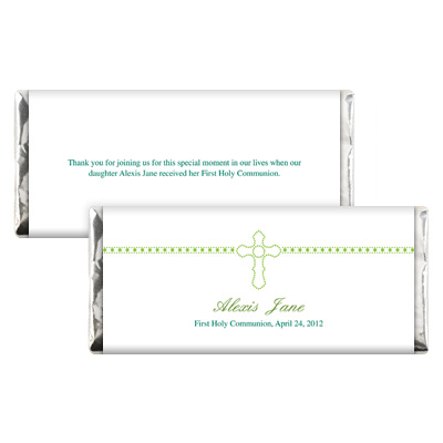 Dazzle Cross First Communion Candy Wrapper