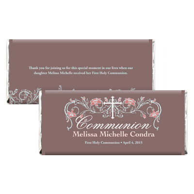 Dusty Rose Jeweled Candy Wrapper