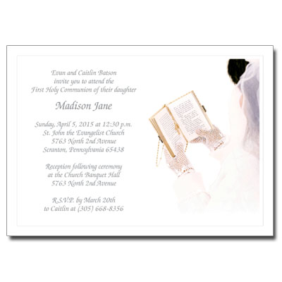 Her Celebration First Communion Invitation