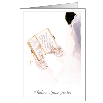 how to write holy communion cards