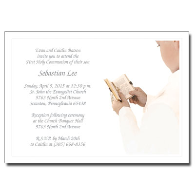 His Celebration First Communion Invitation