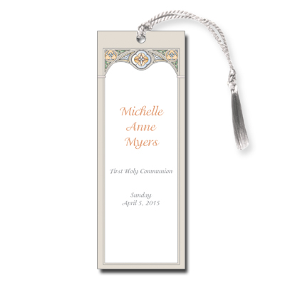 Stained Glass First Communion Bookmark