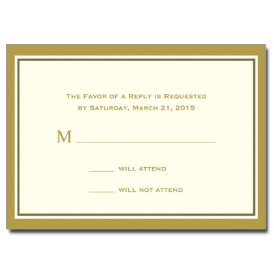 Gold Filigree Jewel Cross First Communion Response Card