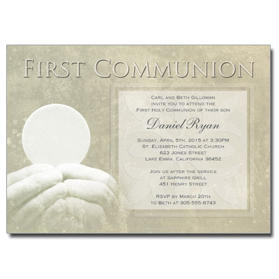 First Communion Host Invitation