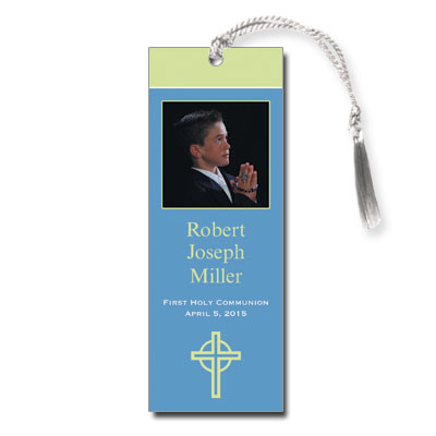 Kiwi Cross Blue Bookmark