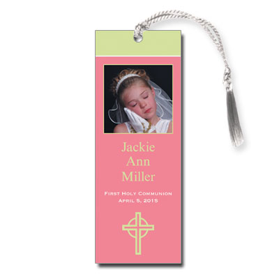 Kiwi Cross Pink Bookmark