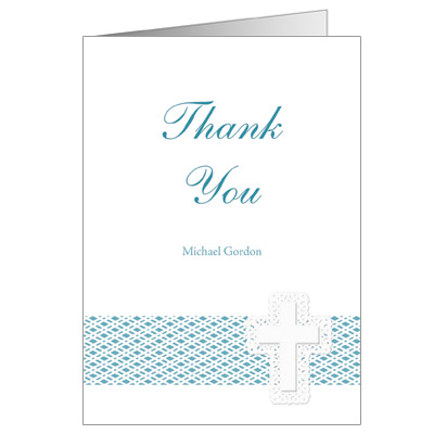 Lattice Cross Blue Note Card