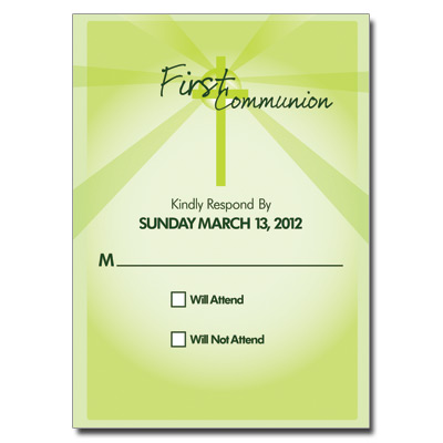 Lightbeams Green Response Card