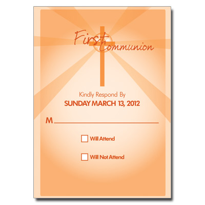 Lightbeams Orange Response Card