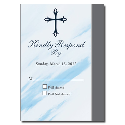 Marbled Blue Response Card