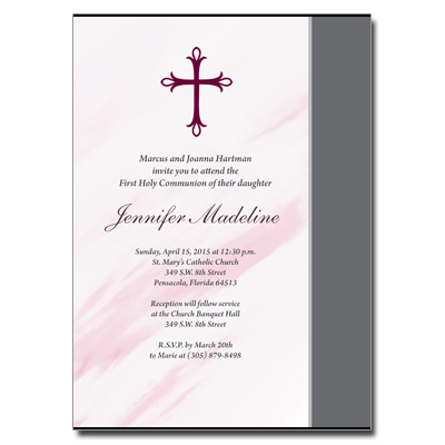 Marbled Pink Invitation