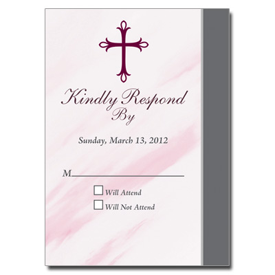 Marbled Pink Response Card