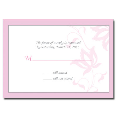 Cross & Jewel Necklace First Communion Response Card