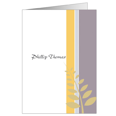 Olive Branch First Communion Thank You Card