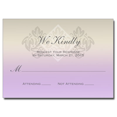 Pastel Girl Cross First Communion Response Card