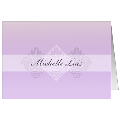 Pastel Girl Cross Note Card