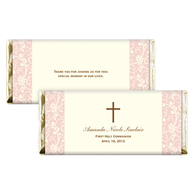 Pink Vines First Communion Candy Wrapper