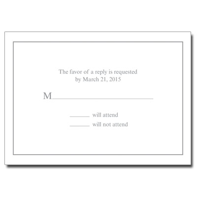 Generic First Communion Response Card