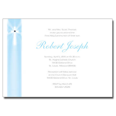 Blue Rays Jeweled Invitation