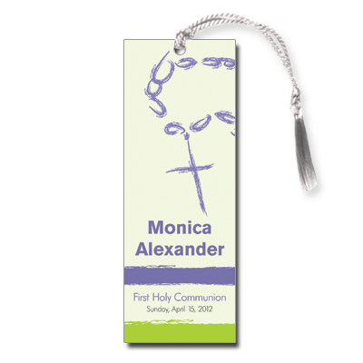 Rosary Beads Lavender Bookmark