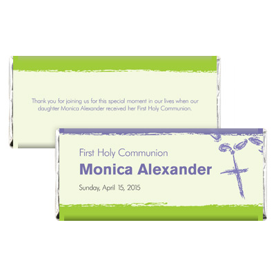 Rosary Beads Lavender First Communion Candy Wrapper