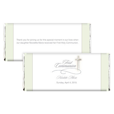 Simple Cross First Communion Candy Wrapper