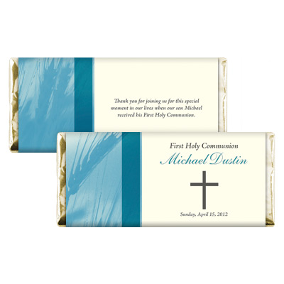 Traditional Wheat Teal Candy Wrapper