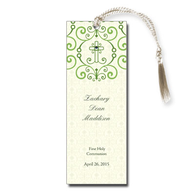 Adorned Cross Jeweled First Communion Bookmark