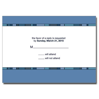 Geometric Blue Cross First Communion Response Card