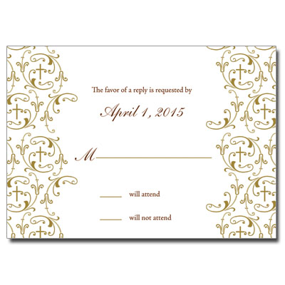 Golden Vines First Communion Response Card